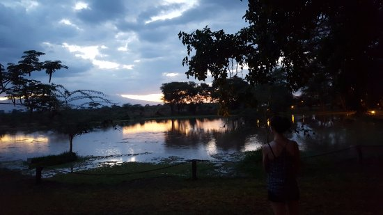 Voyager Ziwani, Tsavo West: Lake in the grounds