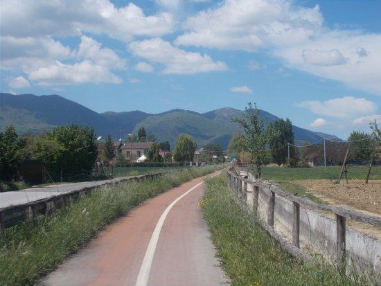 Ciclovia Conca Reatina: Pista della Conca Reatina - parte est
