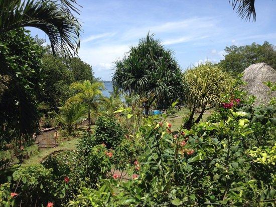 Isla San Cristobal, Panamá: Uitzicht vanuit de veranda