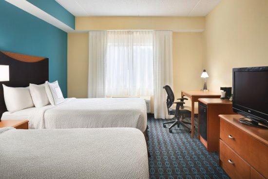 Queen Queen Guest Room At Fairfield Inn Suites Minneapolis Bloomington Mall Of America