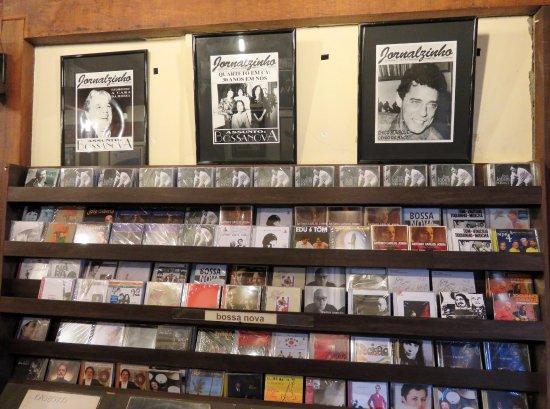 Livraria de Musica Toca do Vinicius: Just some of the CD's at Toca do Vinicius - Ipanema (10/May/17).
