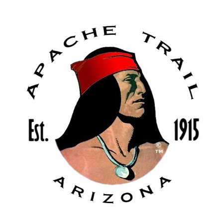 original apache trail logo from 1915 picture of apache trail