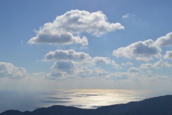 Saiki, Japan: 海を望める山