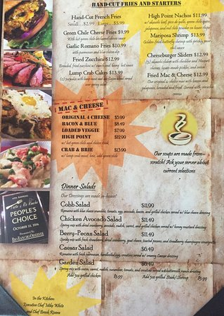 The Point Grill: Menu