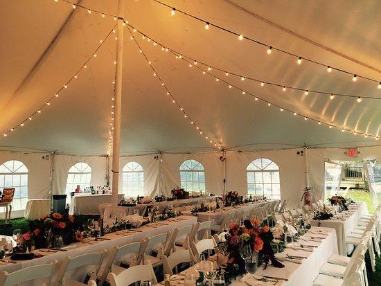 Jedediah Hawkins Inn Restaurant Tented Wedding On Our Lawn