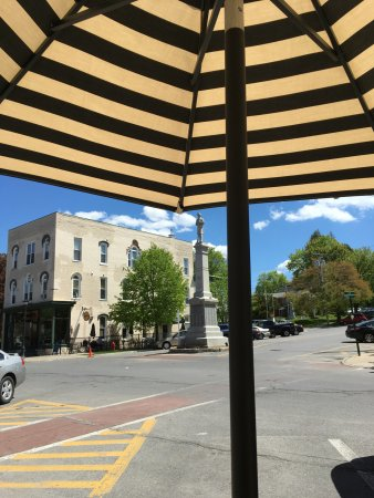 Ballston Spa, Estado de Nueva York: View from the sidewalk tables