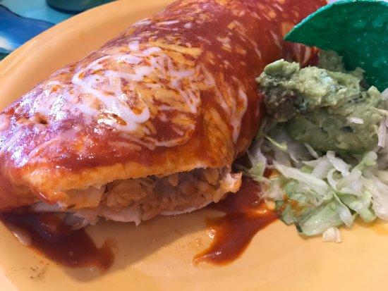 Wasilla, AK: HUGE Macho burrito. The red sauce is amazing