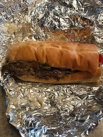 #17 Jersey Mike's Famous Philly Cheese Steak with all the cheese on the wrapper. 04-24-17