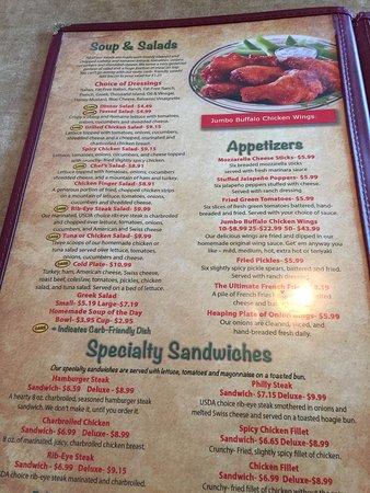 Shelby, Karolina Północna: menu