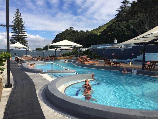 """Mount Maunganui, New Zealand: The """"lounging"""" pool. A hot, leisurely soak here is a treat."""