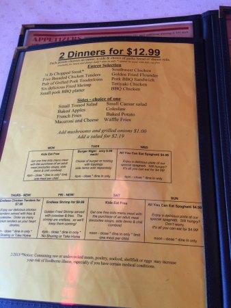 Salem, VA: menu