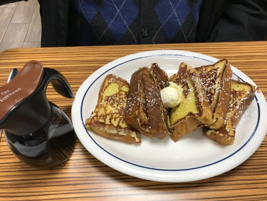 Ozone Park, NY: French toast with butter