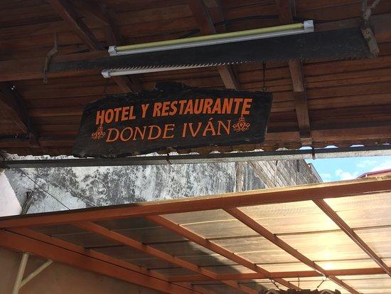 Hotel Donde Ivan: Entrance
