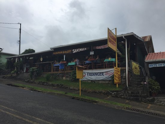 Nuevo Arenal, Costa Rica: outside of the german bakery