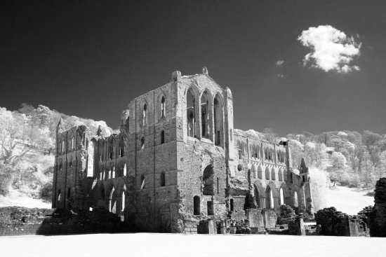 Helmsley, UK: Rievaulx Abbey, shot in IR.