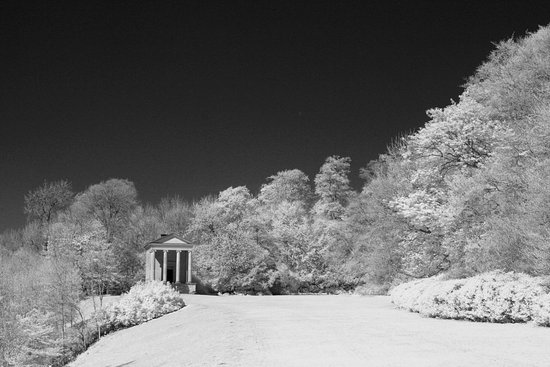 Helmsley, UK: Ionic Temple, IR shot.