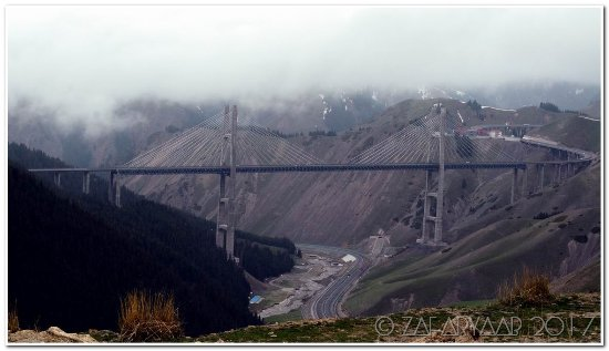 Huocheng County, China: Full view of the main bridge