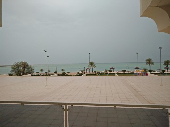 Mirfa, De forente arabiske emirater: View of the beach from the room