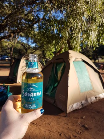 Pilanesberg Safaris and Tours: Drinks in camp before dinner