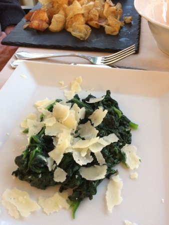 Cafe La Vittoria: Side Dish of Spinach with Parmesan