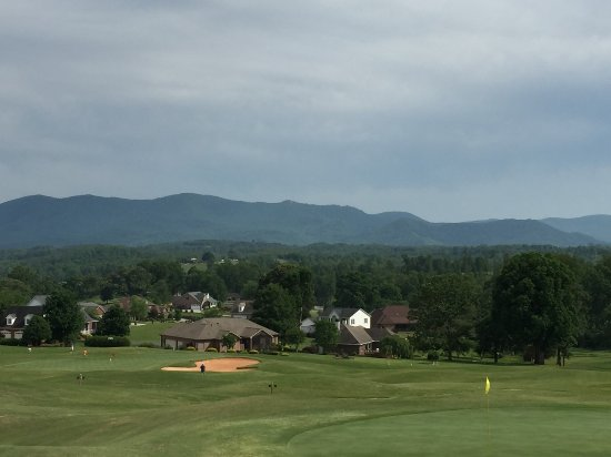 Morganton, Caroline du Nord : Mountain vista above # 16 Green