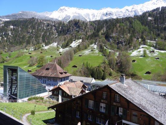 Hotel Silberhorn: Uitzicht vanaf ons balkon