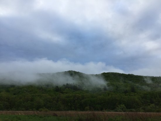Hot Springs, VA: Fog on the mountain
