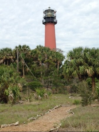 Jupiter, Floride : LIGHTHOUSE FROM SOUTHERN TRAIL