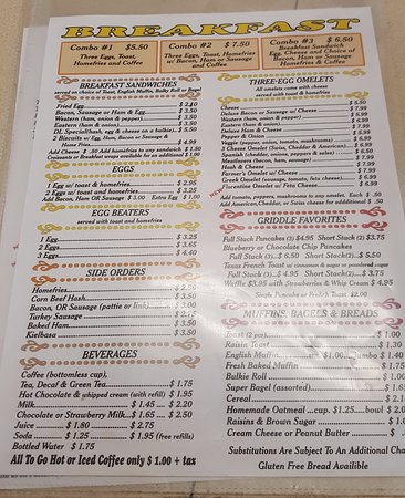 Southbridge, MA: Breakfast Menu