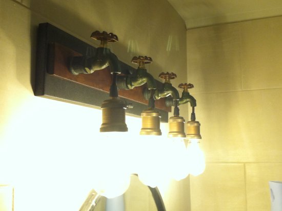 Cool bathroom light fixtures! - Picture of Tres Rios, Pittsburgh ...