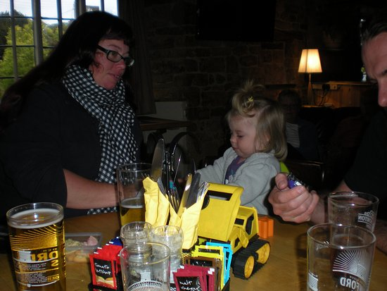 The Brasenose Arms: enjoying our meal with the family