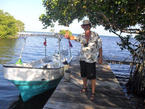 Caye Caulker, เบลีซ: At the Estruary dock