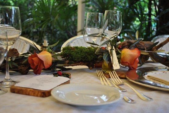 Ristorante Al Lago - Romantik Hotel Castello-Seeschloss: decorazione cena di matrimonio