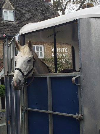 Duns Tew, UK: The white horse, in.
