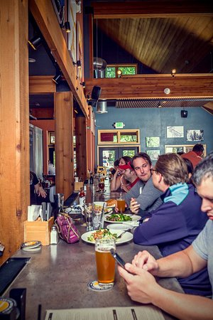 Beers and food at the Sunriver Pub bar