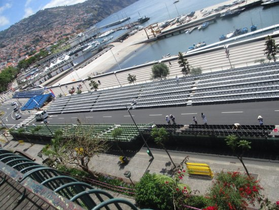Santa Catarina Park : Viewing platform looking down onto the Avenue where the Flower Festival will pass