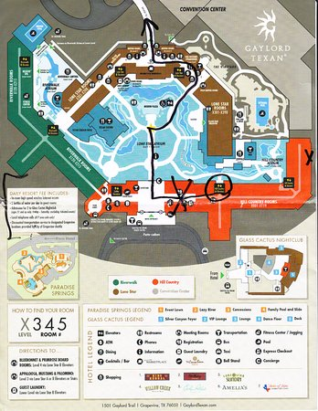 Gaylord Texas Map Gaylord Texan Resort & Convention Center map   Picture of Gaylord