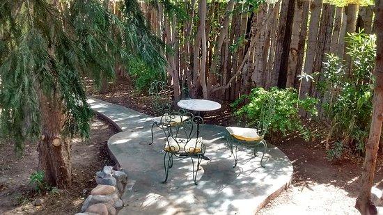 كازا جليبينياس: Este es un espacio en el jardin privado para cada habitación.