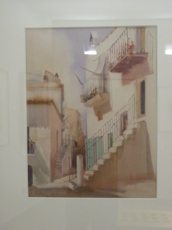 Museo Puget: Watercolor inside the Museum