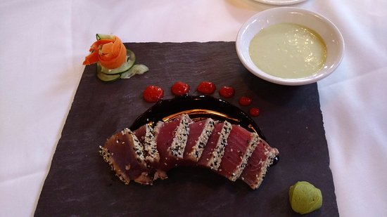 Brea, CA: Off the menu - ahi sashimi like they used to serve. On request.