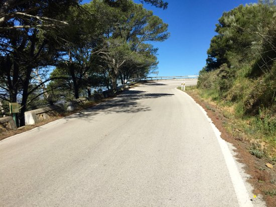 bike2malaga: Not nearly to the top, climbing into the heavens . . .