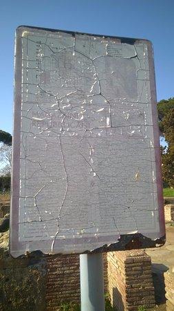 presso gli scavi di Ostia antica