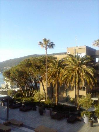Igalo, Karadağ: Вид из номера отеля