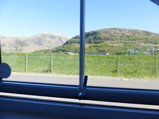 Premier Inn Fort William Hotel: Actual view from hotel room window