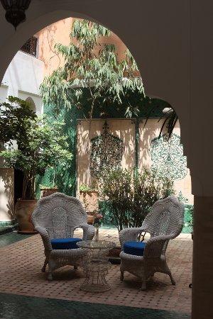 Ksar Anika: Part of the courtyard sitting area