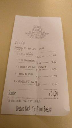 Gasthaus Reinthaler: IMG_20170513_211255_large.jpg
