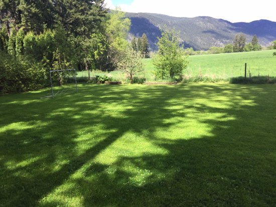McLure, Kanada: great field for soccer or letting pups run!