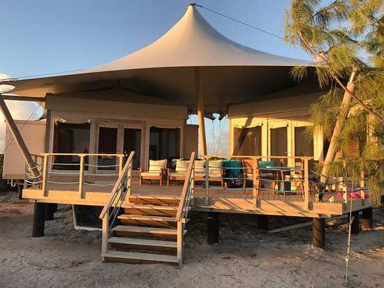 Anegada Beach Club Double Tent With Joining Deck