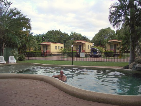 Charters Towers, Australia: View of cabins across the pool