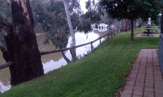 Moama Riverside Holiday & Tourist Park: From my cabin overlooking the water